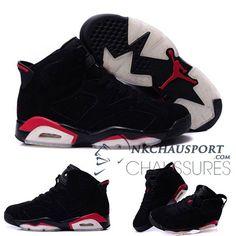 new product e4a51 29292 Nike Air Jordan 6   Classique Chaussure De Basket Homme Noir Rouge-3