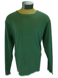 40333a332 New Tommy Bahama Dual in The Sun Tee Green Long Sleeve Crew Neck T Shirt  Pima
