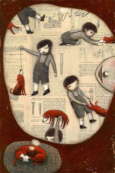 Ofra Amit, ilustración para el libro Wings, con el que ganó el Premio de Honor IBBY