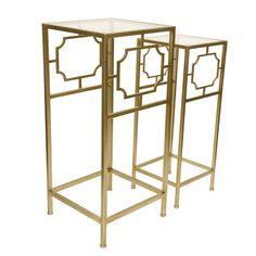 House of Hampton Fletcher 2 Piece Accent Table Set