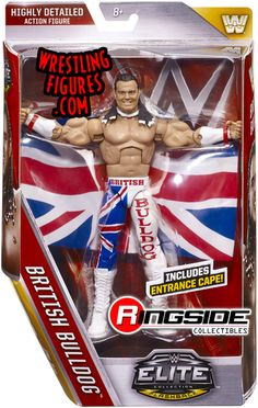 WWE Elite 39 British Bulldog - Mattel Wrestling figure New/Boxed Figuras Wwe, Davey Boy Smith, Daniel Bryan Wwe, Toy Bulldog, Wwe Toys, Wwe Action Figures, Big Battle, Wwe Elite, Wrestling Superstars
