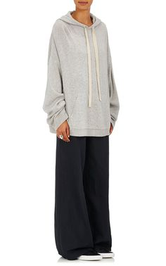 Robert Rodriguez Stockinette-Stitched Wool-Cashmere Cutout Hoodie | Barneys New York