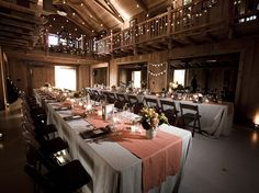 imagine this with fall colors.. I want the reception in a place like this!