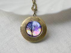 Wonderland Dark Tree Locket Necklace via Etsy.