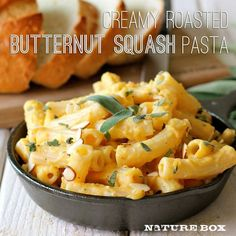 Creamy Butternut Squash Pasta | Chew On This- brought to you by NatureBox!