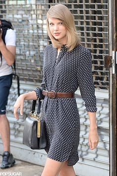 Taylor Swift walked around NYC on Wednesday.