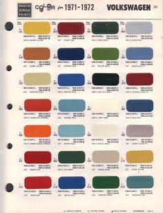 Paint Chips 1972 Volkswagen Beetle