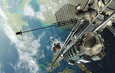 elevator to space being developed in japan.  eight days travel time to reach the space station.  incredible.
