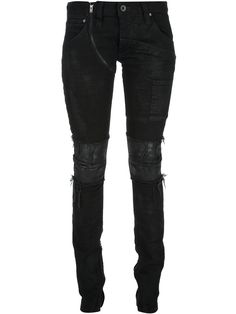 If Six Was Nine Distressed Zip Detail Jean