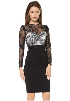 f75ee3d7c Black Lace Midi Bodycon Dress with Back Long Zipper