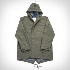 Killer update on a classic mod favorite - Ace Hotel X Alpha Industries fishtail parka.