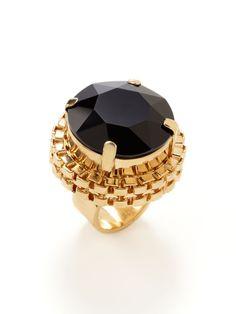 Mawi - Woven Gold & Black Crystal Ring . #ThatsAGoodLook