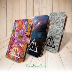 Deathly Hallows Harry Potter flip leather wallet by BeanBeanCase, $12.99