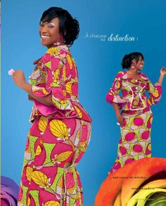 2020 Elegant and Lovely Ankara Skirt and Blouse Styles For Ladies Latest African Fashion Dresses, African Print Dresses, African Print Fashion, African Dress, African Attire, African Wear, Ghana Style, African Blouses, Ankara Skirt And Blouse