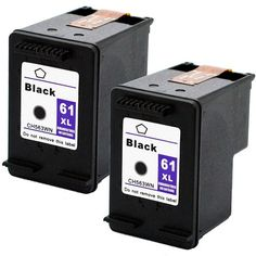 2 Pack 61XL High Yield Black Ink for HP OfficeJet 2620 4630 4632 4634 4635 8040