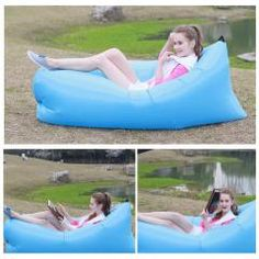 [ 35% OFF ] A Variety Of Ways Portable Outdoor Beach Furniture Inflatable Sofa Bed Lazy Sleep Hammock Camping Air Mattress Nylon Lazy Bed