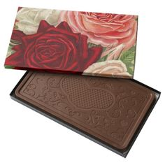Vintage Gardening Roses 2 Pound Milk Chocolate Bar Box - #vintagewishes #zazzle