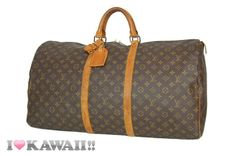 Authentic Louis Vuitton Monogram Keepall 60 Bag Boston Duffle Free Shipping!
