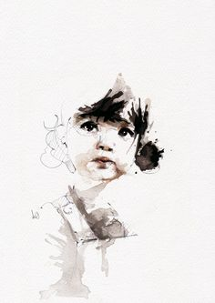 Florian Nicolle a.k.a. Neo, is a freelance graphic artist . He tries to create an image that retains the freshness of the first paint stroke with lines that are free and spontaneous. This French artist uses a fast technique and materials are a large brush, watercolor and Chinese ink. His designs are striking and capture the very essence of the subjects.