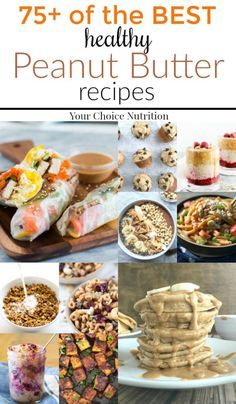 Give in to your peanut butter craving with these 75 of the BEST dietitian approved healthy peanut butter recipes. From breakfast to dinner and even dessert, there is peanut butter recipe to please everyone in this round-up! | via www.yourchoicenutrition.com #yourchoicenutrition #food #recipe #healthyeating #healthylifestyle #dietitian #dietitianapproved #healthyrecipe #peanutbutter #mindfuleating #snack #dessert #dinner #breakfast #intuitiveeating #peanutpowder #peanutbutterlover…