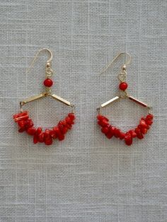 Balboa Jewelry-Fire Coral Earrings