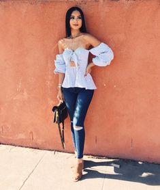Looks que le darán un refresh a los tan usados skinny jeans – Daily Fashion Club Outfits, Jean Outfits, Dress Outfits, Casual Outfits, Summer Outfits, Fashion Outfits, Classy Outfits, Work Outfits, Fashion Fashion