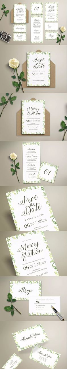 Watercolor Floral Save The Date Wedding Flyer Template PSD US - wedding flyer