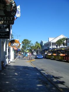 Lower Duval Street, Key West - walked that street so often...and drove it in our electric car - such good memories - MR