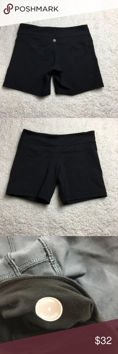 Black Lululemon spandex shorts These are black Lululemon spandex style shorts, they're perfect for running, weightlifting or just about any workout! Very comfortable and in perfect condition! I ❤️ offers! lululemon athletica Shorts