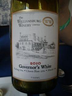 I LOVE Governor's White by Williamsburg Winery mmmmMMMmmm