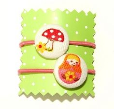 Two small ponytail holders by Holland Fabric House, via Flickr