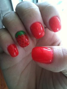 Inventive Nails in Aldergrove does another great job on my nails - Love the red and STRAWBERRY design.  :)