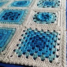 crochet motifs | poppyandbliss V Stitch Crochet, Crochet Cross, Crochet Motif, Free Crochet, Crochet Granny, Crochet Square Patterns, Crochet Blanket Patterns, Easy Crochet Blanket, Modern Crochet