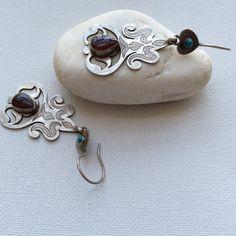 Vintage turkoman turkmen earrings silver dangle by FIGistanbul