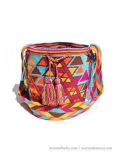 Authentic Crochet Wayuu Mochilas  Handmade by the by loveandlucky, $119.00