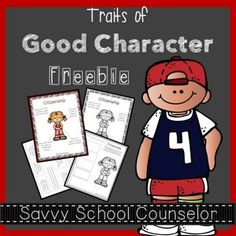 This freebie is a sample of my product: Traits of Good Character.Each character trait comes with a poster in both color and black/white telling how to use your body to show the trait. It also comes with an activity sheet for a more hands-on approach. Citizenship Activities, Social Studies Activities, Preschool Activities, Teaching Resources, Character Activities, Character Education, Character Development, Personal Development, Elementary Counseling