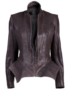 If i get something leather for this fall, this is the piece i want!  Haider Ackermann leather jacket -- from farfatch.com