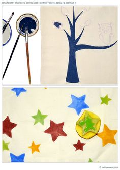 DIY Drucken mit Öko Stoffmalfarben | Bio-Stoffe Siebenblau öko-faire Stoffe © SteffiHanusch siebenblau.de