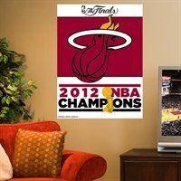 Miami Heat 2012 NBA Finals Champions Flag! #MiamiHeat Nba Miami Heat, Nba Store, Finals, Flag, Final Exams, Science