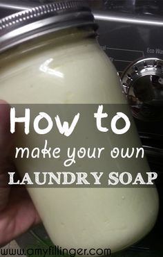 How to make your own laundry soap. The best laundry soap recipe that I have tried. This cheap DIY will save money, it's gentle on skin, and best of all, it's easy!