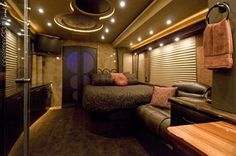 Tour bus interior!