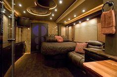 Tour bus interior!