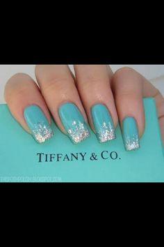 Tiffany sparkle nails ♥