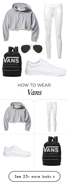 """Untitled #1"" by shamar-mcm on Polyvore featuring Frame, Vans and Ray-Ban"