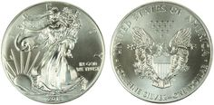 2013 Silver Eagle - Gem Uncirculated - MintProducts.com Coin Dealers, Bullion Coins, Silver Eagles, Silver Dollar, San Francisco, Copper, Mint, Gems, Free Shipping