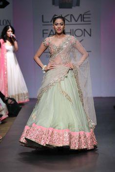 Anushree Reddy gown at Lakme fashion show 2014. #lengha #bridal #runwayfashion #bollywoodfashion