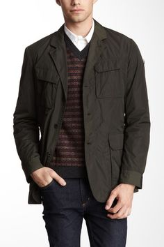 Victorinox Travel Poly Elm Blazer in Olive army green; also comes in black & navy blue