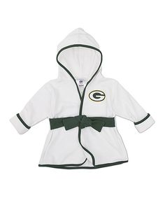 Take a look at this NFL White Green Bay Packers Robe - Infant on zulily today!