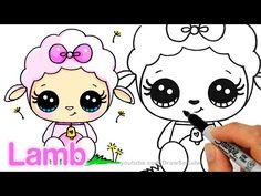 nice How to Draw a Cute Lamb step by step Easy - Cartoon Animal Sheep