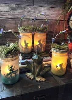 29+ Ideas garden fairy lights in a jar#fairy #garden #ideas #jar #lights